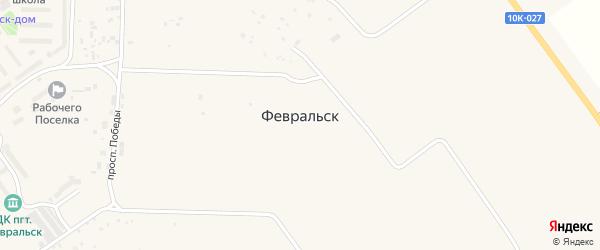 Садиковый переулок на карте поселка Февральска с номерами домов