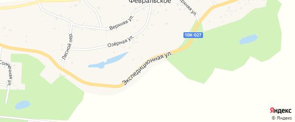 Экспедиционная улица на карте Февральского села с номерами домов