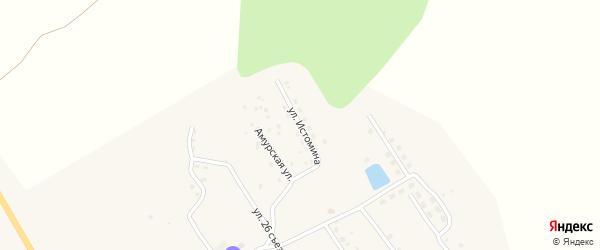 Улица Истомина на карте поселка Февральска с номерами домов