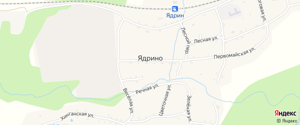 Торговая улица на карте села Ядрино с номерами домов