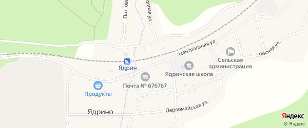 Центральная улица на карте села Ядрино с номерами домов