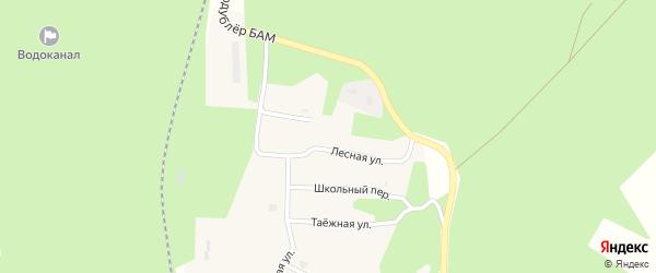 Лесная улица на карте поселка Исы с номерами домов