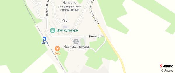 Новая улица на карте поселка Исы с номерами домов
