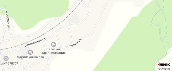 Лесная улица на карте села Ядрино с номерами домов