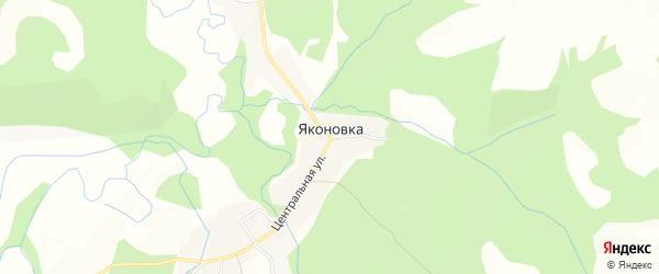 Карта села Яконовки города Уссурийска в Приморском крае с улицами и номерами домов