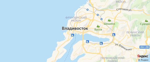 Карта Владивостока с районами, улицами и номерами домов