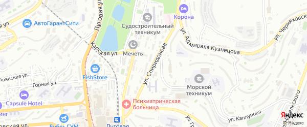 Улица Спиридонова на карте Владивостока с номерами домов