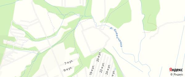 Карта садового некоммерческого товарищества Берега города Арсеньева в Приморском крае с улицами и номерами домов