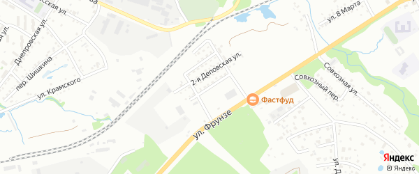 Деповская улица на карте Артема с номерами домов
