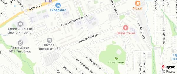 Херсонская улица на карте Артема с номерами домов