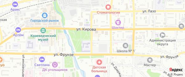 Охотничья улица на карте Артема с номерами домов