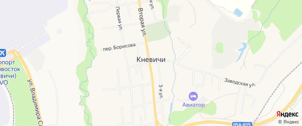 Карта села Кневичей города Артема в Приморском крае с улицами и номерами домов