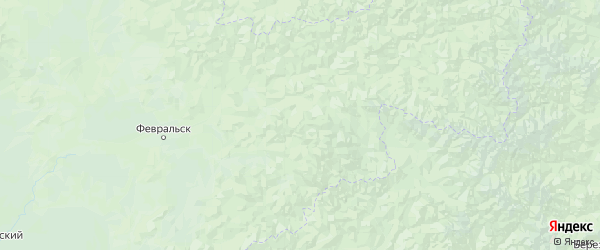 Карта Селемджинского района Амурской области с населенными пунктами и городами