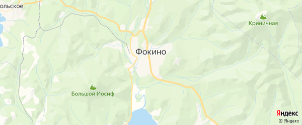 Карта Фокино с районами, улицами и номерами домов