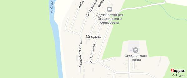Песчаная улица на карте села Огоджи с номерами домов