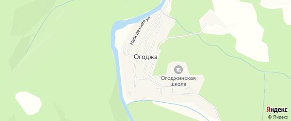 Карта села Огоджи в Амурской области с улицами и номерами домов