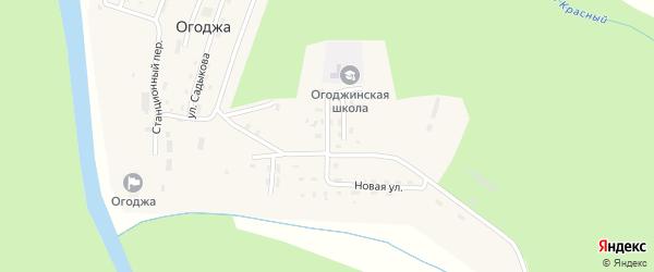 Школьная улица на карте села Огоджи с номерами домов