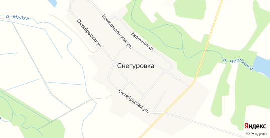 Карта села Снегуровка в Приморском крае