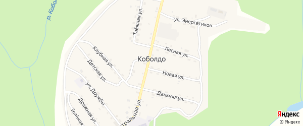 Ключевая улица на карте села Коболдо с номерами домов