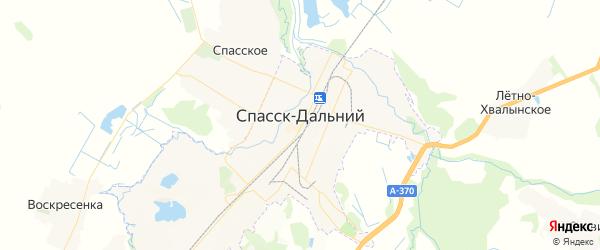 Карта Спасска-Дальнего с районами, улицами и номерами домов