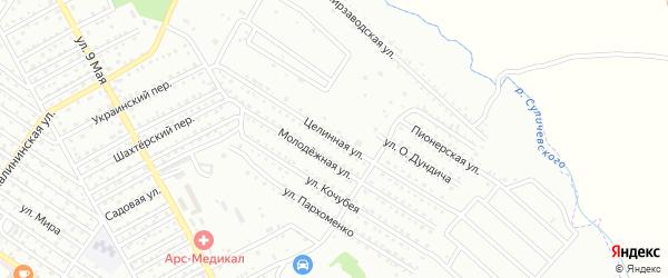 Целинная улица на карте Арсеньева с номерами домов