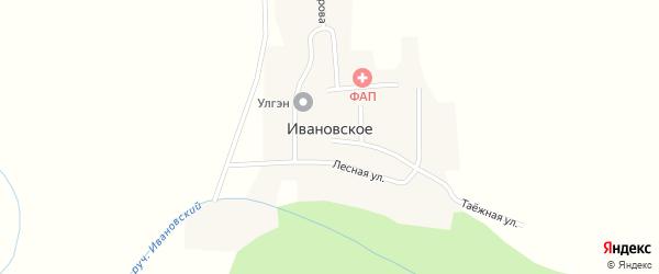 Колхозная улица на карте Ивановского села с номерами домов