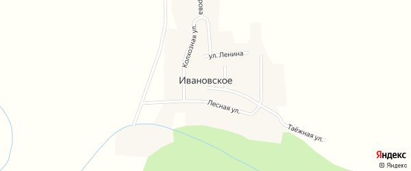 Улица Ленина на карте Ивановского села с номерами домов