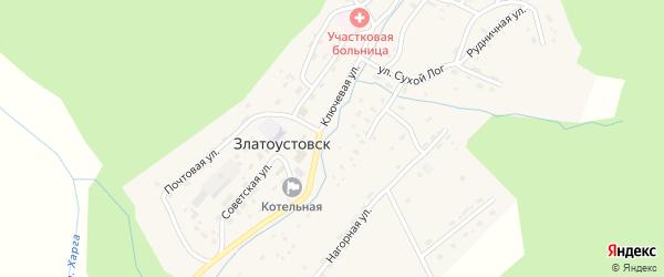 Ключевая улица на карте поселка Златоустовска с номерами домов