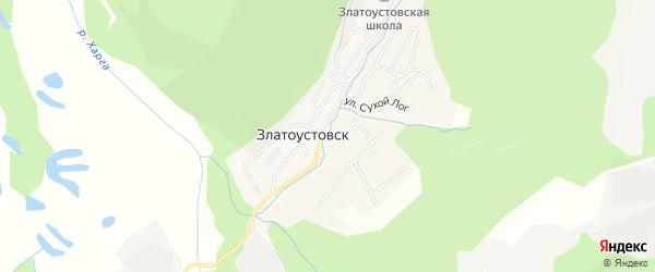 Карта поселка Златоустовска в Амурской области с улицами и номерами домов
