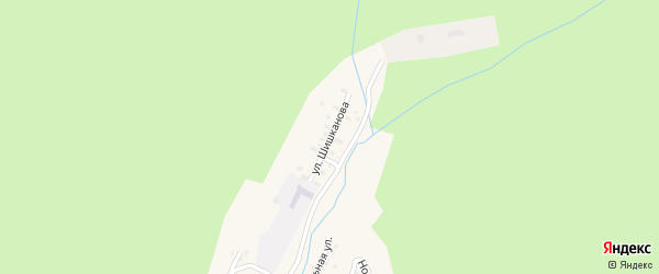 Улица Шишканова на карте поселка Златоустовска с номерами домов