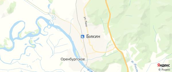 Карта Бикина с районами, улицами и номерами домов