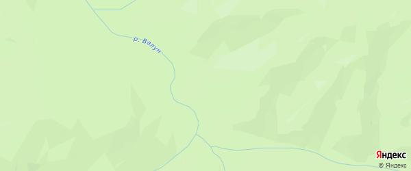 Карта садового некоммерческого товарищества Междуречья города Арсеньева в Приморском крае с улицами и номерами домов