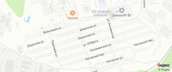 Башенная улица на карте Хабаровска с номерами домов