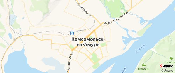 Карта Комсомольска-на-Амуре с районами, улицами и номерами домов