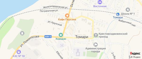 Нагорная улица на карте Томари с номерами домов