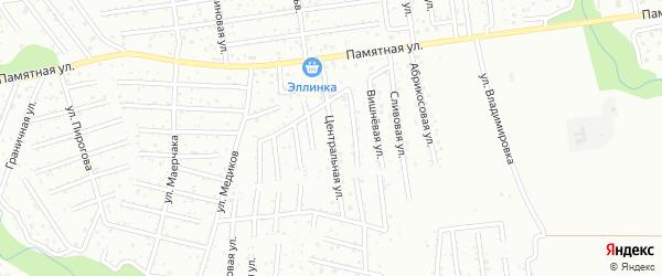 Центральная улица на карте садового некоммерческого товарищества Коммунальника 2 с номерами домов