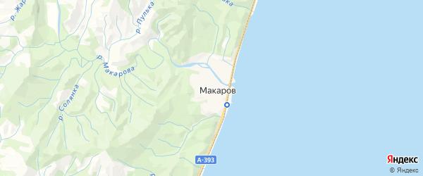 Карта Макарова с районами, улицами и номерами домов