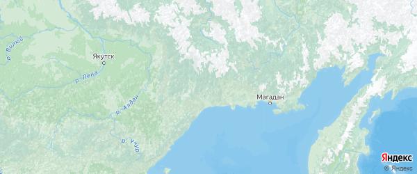Карта Хабаровского края с городами и районами