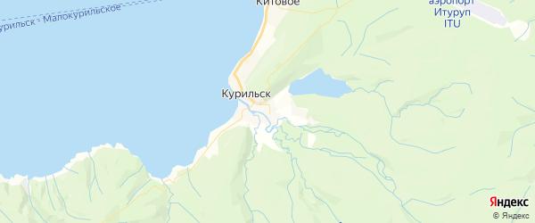 Карта Курильска с районами, улицами и номерами домов