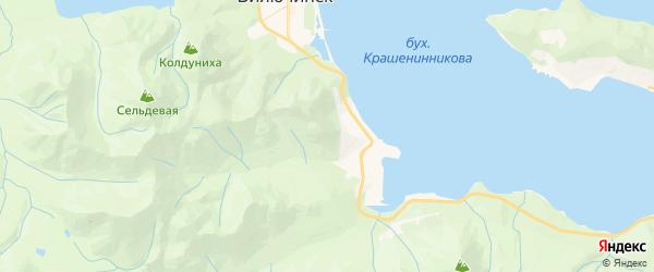 Карта Вилючинска с районами, улицами и номерами домов