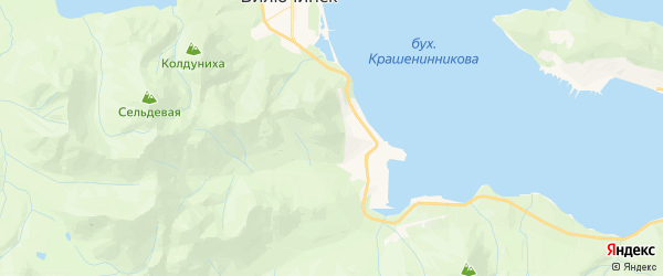Карта Вилючинска с районами, улицами и номерами домов: Вилючинск на карте России