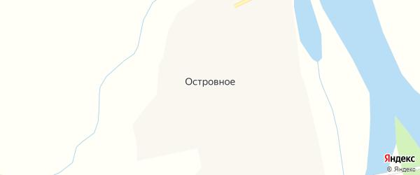 Первомайская улица на карте Островного села с номерами домов