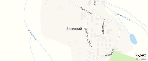 Лесная улица на карте Весеннего поселка с номерами домов