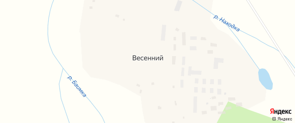 Улица Берзина на карте Весеннего поселка с номерами домов