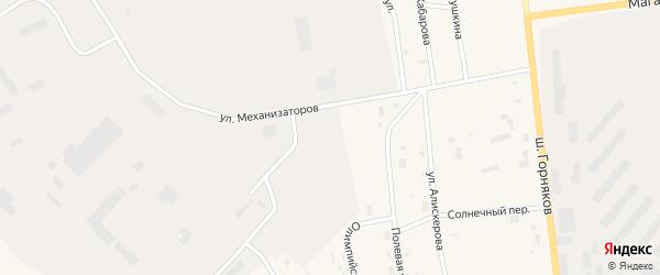 Улица Механизаторов на карте Билибино с номерами домов
