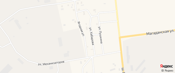 Ягодная улица на карте Билибино с номерами домов