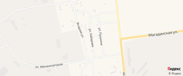 Улица Хабарова на карте Билибино с номерами домов