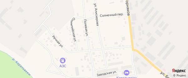 Полевая улица на карте Билибино с номерами домов