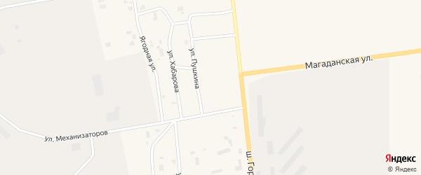 Улица Пушкина на карте Билибино с номерами домов