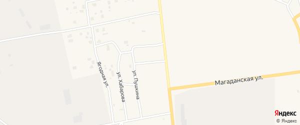 Шоссейный переулок на карте Билибино с номерами домов